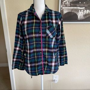 Victoria's Secret long sleeve plaid top size extra small